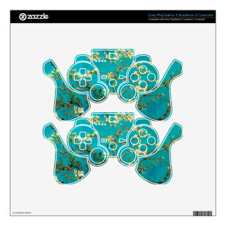 Vincent Van Gogh Blossoming Almond Tree Floral Art PS3 Controller Decal
