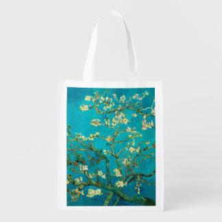Vincent Van Gogh Blossoming Almond Tree Floral Art Reusable Grocery Bag