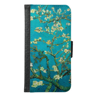 Vincent Van Gogh Blossoming Almond Tree Floral Art Samsung Galaxy S6 Wallet Case
