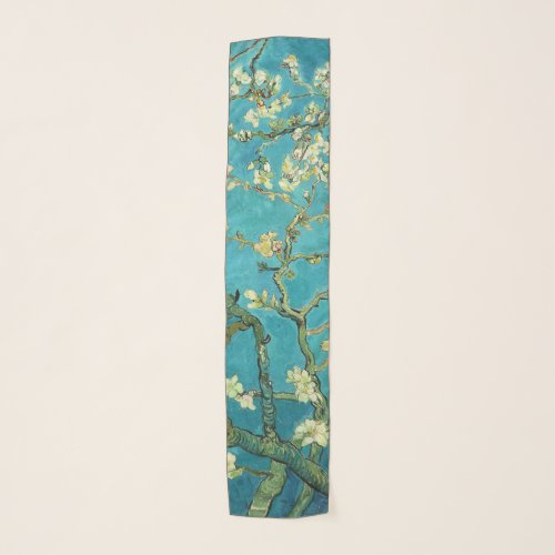Vincent Van Gogh Blossoming Almond Tree Floral Art Scarf