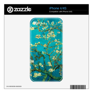 Vincent Van Gogh Blossoming Almond Tree Floral Art Skins For The iPhone 4