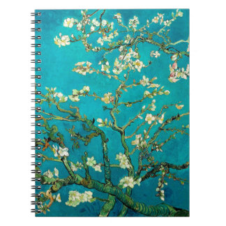 Vincent Van Gogh Blossoming Almond Tree Floral Art Spiral Notebook