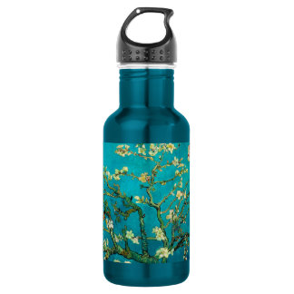 Vincent Van Gogh Blossoming Almond Tree Floral Art Stainless Steel Water Bottle