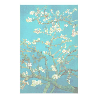 Vincent Van Gogh Blossoming Almond Tree Floral Art Stationery