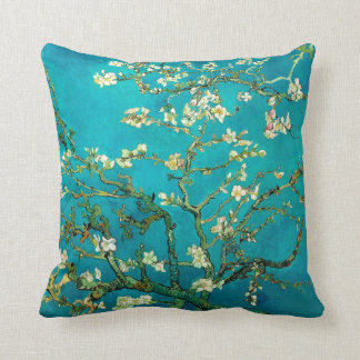 Vincent Van Gogh Blossoming Almond Tree Floral Art Throw Pillow