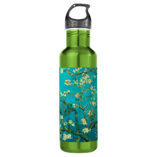 Vincent Van Gogh Blossoming Almond Tree Floral Art Water Bottle