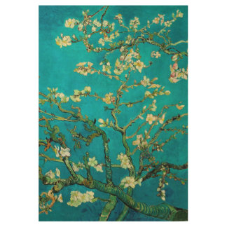 Vincent Van Gogh Blossoming Almond Tree Floral Art Wood Poster