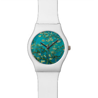 Vincent Van Gogh Blossoming Almond Tree Floral Art Wristwatches