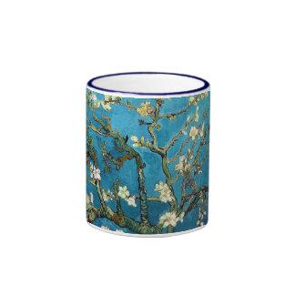 Vincent van Gogh, Blossoming Almond Tree Ringer Coffee Mug