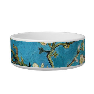 Vincent van Gogh, Blossoming Almond Tree Pet Bowls