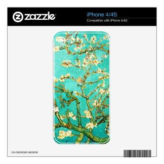 Vincent van Gogh Blossoming Almond Tree Skin For iPhone 4