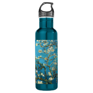 Vincent van Gogh, Blossoming Almond Tree Stainless Steel Water Bottle