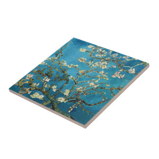 Vincent van Gogh, Blossoming Almond Tree Tile