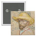 Vincent van Gogh, botón del autorretrato Pins