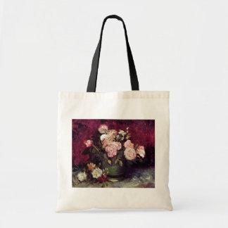 Vincent Van Gogh - Bowl with Peonies & Roses Tote Bag