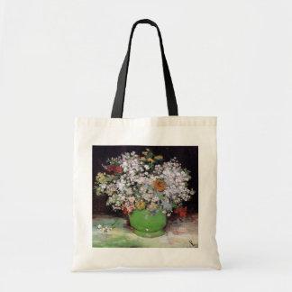 Vincent Van Gogh - Bowl With Zinnias Fine Art Tote Bag