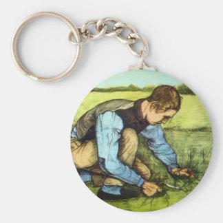 Vincent Van Gogh - Boy Cutting Grass with Sickle Keychain