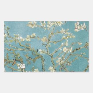 Vincent_van_Gogh_-_Branches_of_an_Almond_Tree_ Rectangular Sticker