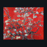 """Vincent van Gogh Branches with Almond Blossom Canvas Print<br><div class=""""desc"""">Vincent van Gogh Branches with Almond Blossom in a very Asian red,  an exclusive by Ladiebug  fine art wrapped canvas Japanese impressionist impressionism painting oil popular famous still life nature floral flowers masterpiece garden tree post &quot;van gogh&quot;</div>"""