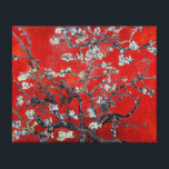 "Vincent van Gogh Branches with Almond Blossom Canvas Print<br><div class=""desc"">Vincent van Gogh Branches with Almond Blossom in a very Asian red,  an exclusive by Ladiebug  fine art wrapped canvas Japanese impressionist impressionism painting oil popular famous still life nature floral flowers masterpiece garden tree post &quot;van gogh&quot;</div>"