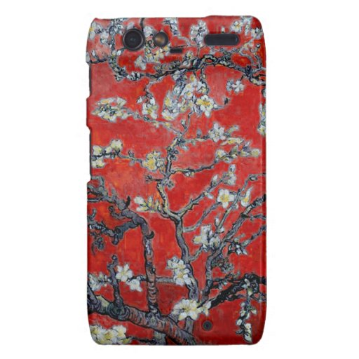 Vincent van Gogh Branches with Almond Blossom Motorola Droid RAZR Covers