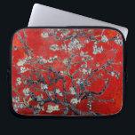 "Vincent van Gogh Branches with Almond Blossom Laptop Sleeve<br><div class=""desc"">Vincent van Gogh Branches with Almond Blossom in red floral</div>"