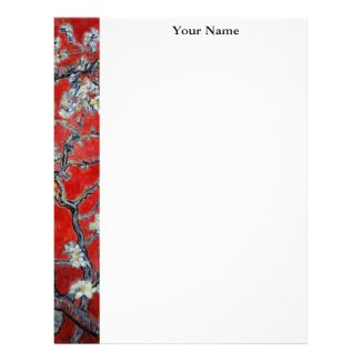 Vincent van Gogh Branches with Almond Blossom Personalized Letterhead