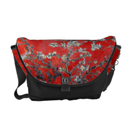 Vincent van Gogh Branches with Almond Blossom Messenger Bag
