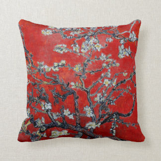 Vincent van Gogh Branches with Almond Blossom Throw Pillow