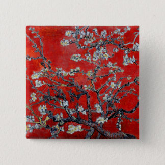 Vincent van Gogh Branches with Almond Blossom Pinback Button