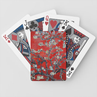 Vincent van Gogh Branches with Almond Blossom Red Bicycle Playing Cards