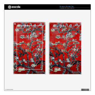 Vincent van Gogh Branches with Almond Blossom Red Kindle Fire Skins