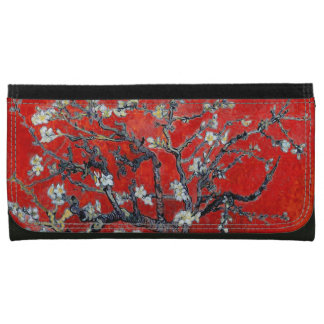 Vincent van Gogh Branches with Almond Blossom Red Wallets For Women
