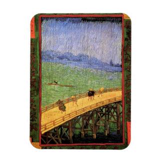 Vincent Van Gogh - Bridge In The Rain Japanese Art Magnet