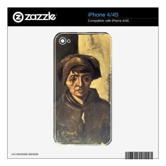 Vincent van Gogh | Bust of a Peasant, 1884 iPhone 4S Skins
