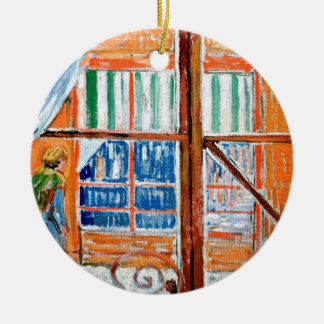 Vincent Van Gogh - Butchers Shop From A Window Ceramic Ornament