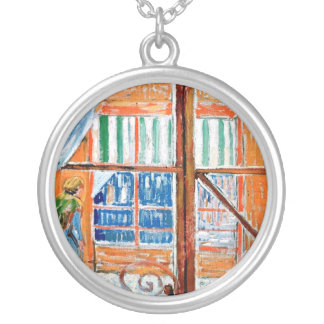 Vincent Van Gogh - Butchers Shop From A Window Silver Plated Necklace