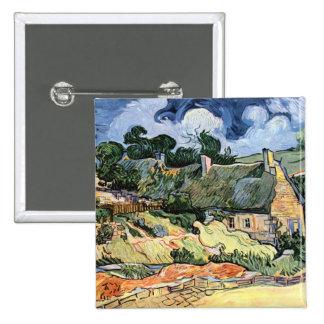 Vincent van Gogh - cabañas cubiertas con paja en C Pin