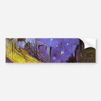 Vincent Van Gogh Cafe Terrace At Night Fine Art Bumper Sticker