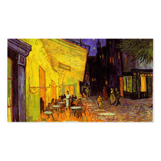 Vincent Van Gogh Cafe Terrace At Night Fine Art Double-Sided Standard Business Cards (Pack Of 100)