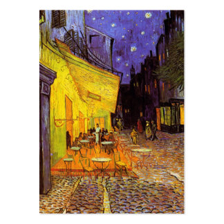 Vincent Van Gogh Cafe Terrace At Night Fine Art Large Business Cards (Pack Of 100)