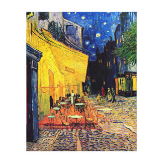 Vincent Van Gogh - Cafe Terrace At Night Fine Art Canvas Print