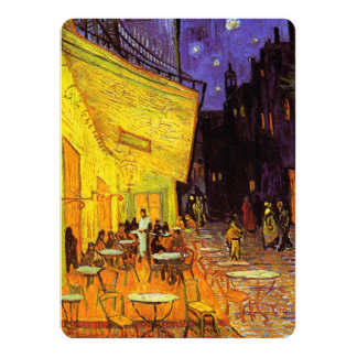 Vincent Van Gogh Cafe Terrace At Night Fine Art Card