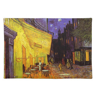 Vincent Van Gogh Cafe Terrace At Night Fine Art Cloth Placemat