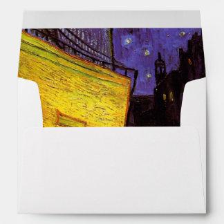 Vincent Van Gogh Cafe Terrace At Night Fine Art Envelope