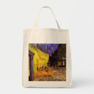 Vincent Van Gogh Cafe Terrace At Night Fine Art Grocery Tote Bag