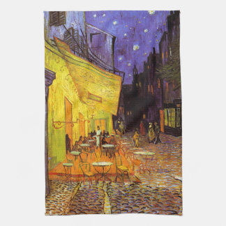 Vincent Van Gogh Cafe Terrace At Night Fine Art Kitchen Towel