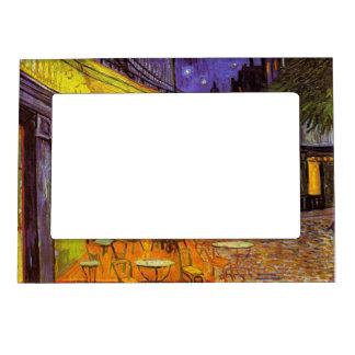 Vincent Van Gogh Cafe Terrace At Night Fine Art Magnetic Frame