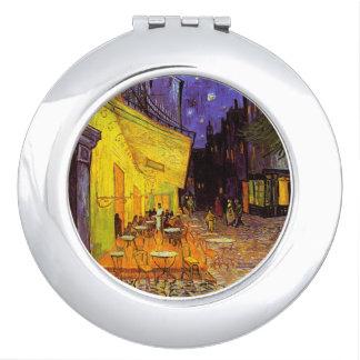Vincent Van Gogh Cafe Terrace At Night Fine Art Makeup Mirror
