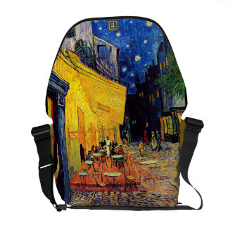Vincent Van Gogh - Cafe Terrace At Night Fine Art Messenger Bag